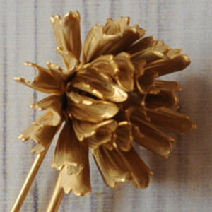 vintage gold tone flower brooch pin intricate